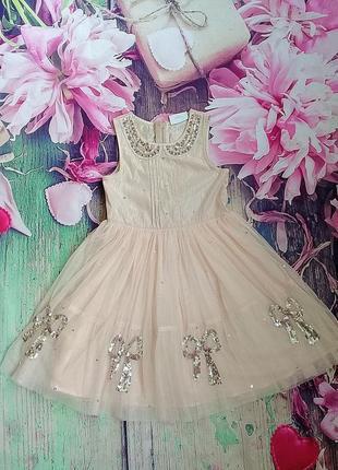 Нарядное платье на девочку 6 лет next