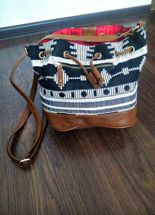 F&f сумка мешок в орнамент трендовая удобная