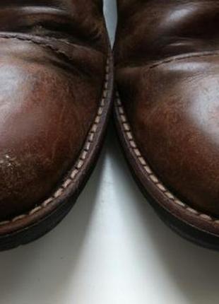 Зимние мужские ботинки clarks, (45 р.) б/у. цвет: коричневый. длина стельки 29,5-30 см.