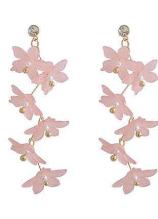 Серьги цветы - длинные серьги. красивые и женственные!