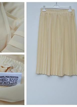 Юбка миди плиссе плиссированая юбка миди на резинке большой размер