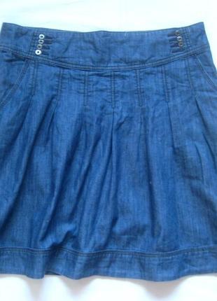 Юбка esprit тонкий джинс с боковыми кармашками, л-хл