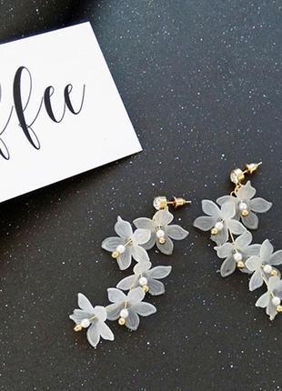 Серьги цветы - длинные серьги. красивые и женственные!2