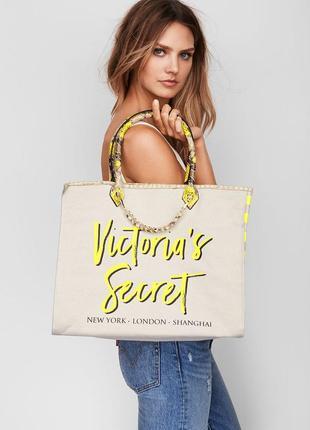 Victoria's secret сумка пляжная большая для пляжа новая оригинал шоппер дорожная