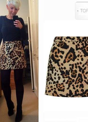 Крутая леопардовая юбка гобелен