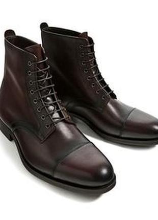 Осенние мужские ботинки ф. zara р. 44