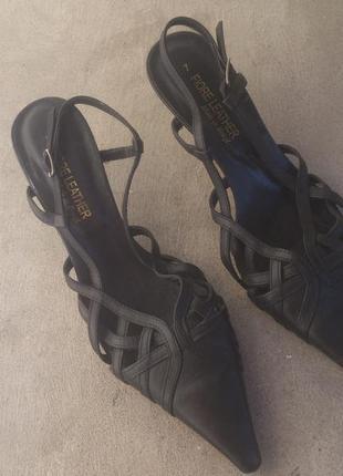 Брендові босоніжки туфлі жіночі fiore leather 38 [бразилія] 24,5 см (босоножки женские)