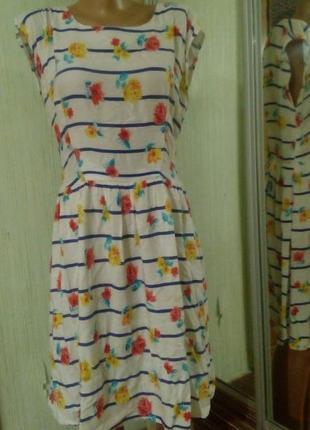 Платье цветное, легкое, летнее. бренд atmosphere. размер eur 40, укр.48