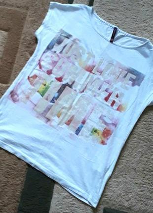 Стильна подовжена футболка з надписом reserved