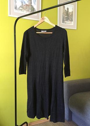 Блестящее платье с люрексом