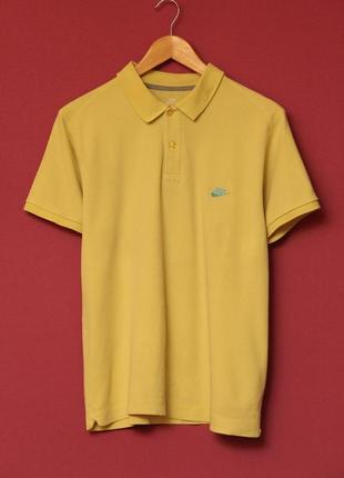 Nike рр m-l поло из хлопок, оригинал. жовто-блакитне.