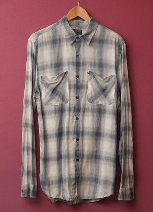 Polo ralph lauren рр l рубашка из льна идёт как овершот (верхня одежда)