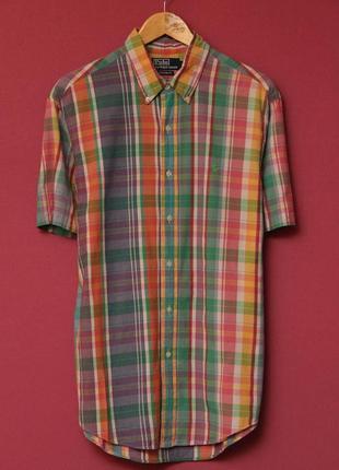Polo ralph lauren рубашка m-l, короткий рукав.