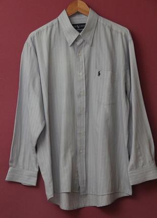 Polo ralph lauren l-xl хлопковая рубашка.
