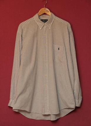 Polo ralph lauren рубашка клечатая xl оригинал