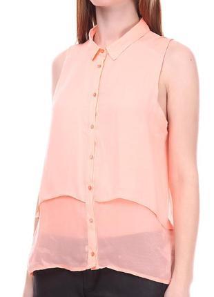 Блуза bershka персикового (светло-кораллового) цвета