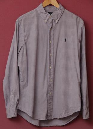 Polo ralph lauren l клечатая рубашка в идеальном состоянии оригинал.