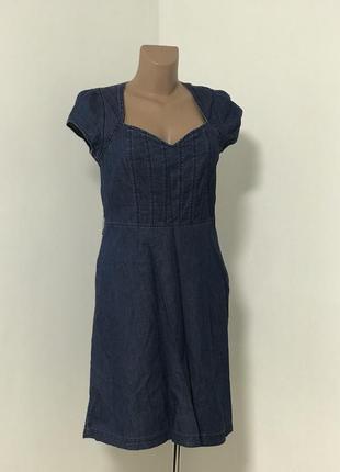 Джинсовое платье миди
