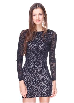Платье черное гипюровое love republic 46 р. m-l состояние нового
