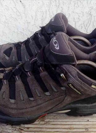 Ботинки salomon франция замша gore-tex 41.5р кроссовки мужские