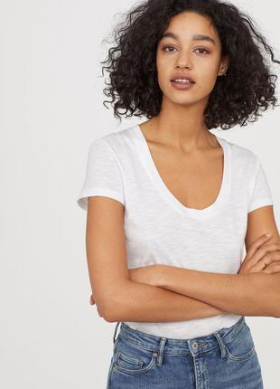 Базовая белая футболка h&m