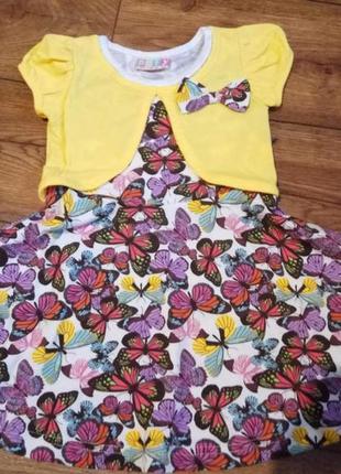 Детское платье для девочки - турция - хлопок - 1-2 года