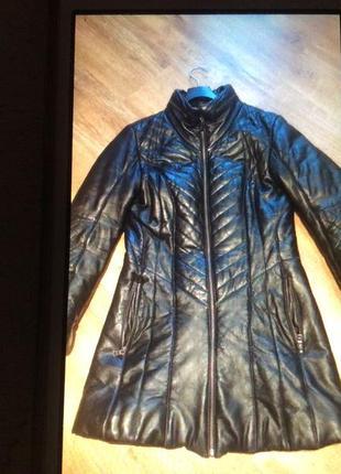 Пальто натуральная кожа италия