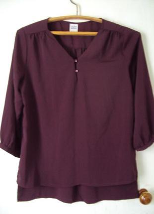 Блузка цвета баклажан