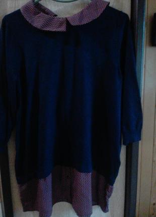 Кофта,туніка з імітацією сорочки