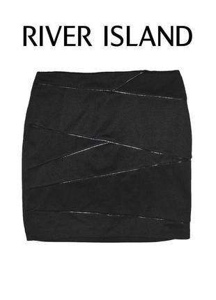 Юбка черная river island