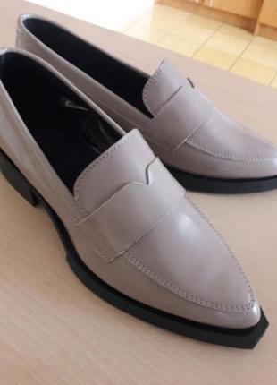 Туфли лоферы оксфорды кофейного цвета