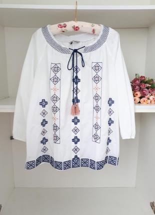 L/48 вышиванка блузка с вышивкой tu 71831