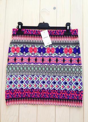 Разноцветная мини юбка pimkie