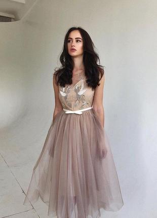 Пышное платье вечернее выпускное