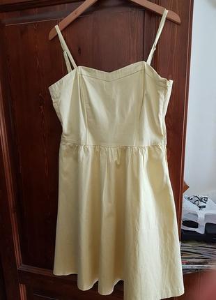 Миди платье сарафан h&m