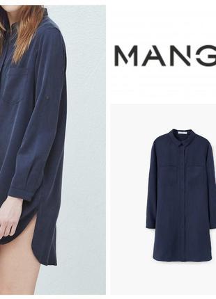 Сукня-сорочка/ платье-рубашка з ліоцелу mango casual xs