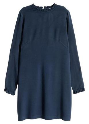 H&m вискоза , платье с оборками, м-l
