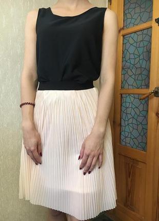 Красивая юбка плисе (маечка в подарок)