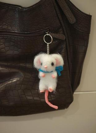 Украшение для сумки мышка- брелок