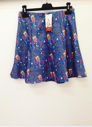 Красивая расклешенная мини юбка высокая талия pull&bear