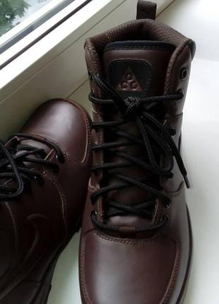 Тёплые навый кожаные ботинки nike