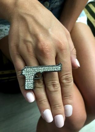 Кольцо на 2 пальца пистолет