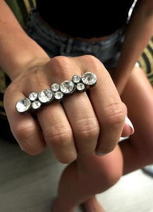 Кольцо на 2 пальца