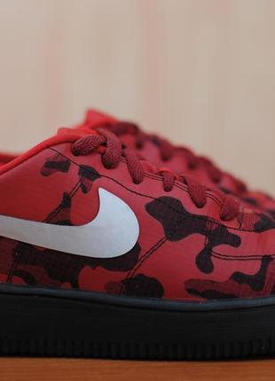 Красные женские кроссовки nike air force 1, найк аир форс. 38 размер. оригинал