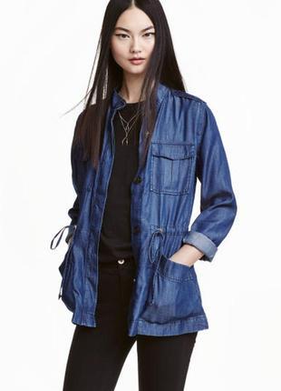 Джинсовая курточка h&m размер 10uk (s, eur 36)