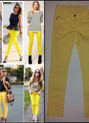 Яркие стильные фирменные джинсы на миниатюрную девушку, xxs