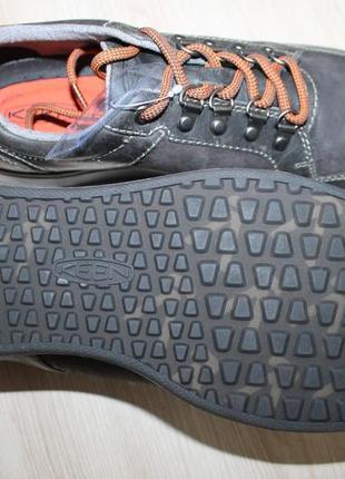 Качественные кожаные полуботинки от американского бренда keen, оригинал