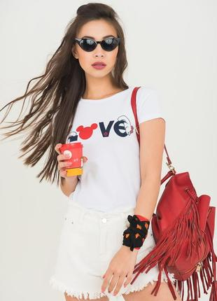 Качественная стрейчевая белая футболка my serenad,турция,one size(s/m/l)
