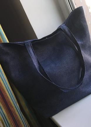 Соломенная пляжная сумка шоппер