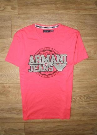 Яркая,качественная , стильная футболка armani jeans л-хл размер